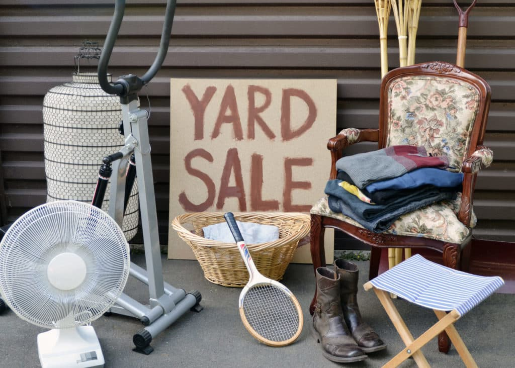 easy businesses to start part time yard sales